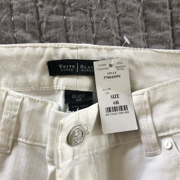 White House Black Market Pants - White House Black Market White Jeans